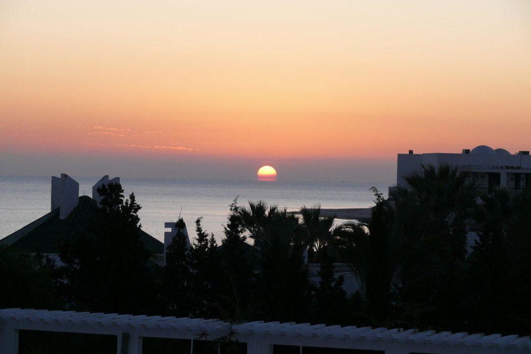 Sonnenaufgang vom Hoteldach/-terrasse Hotel Green Park  (Vorgänger-Hotel – existiert nicht mehr)