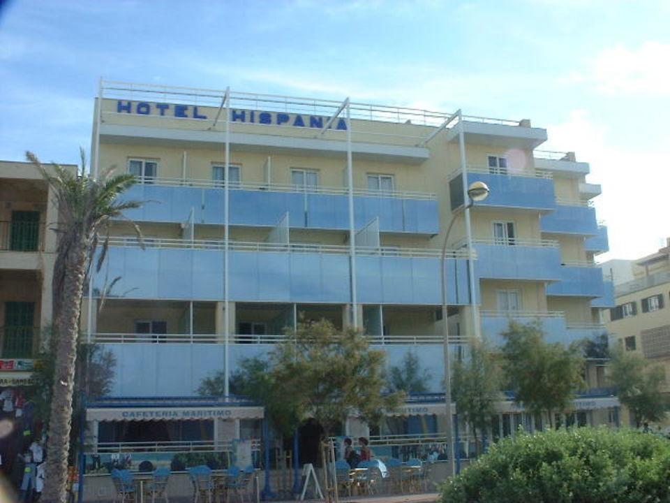 Hotel Hispania - Hotelansicht vom Strand Hotel Hispania
