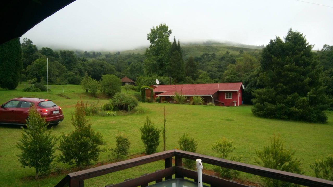 View of reception from cottage patio Zur Alten Mine Guest Farm B&B