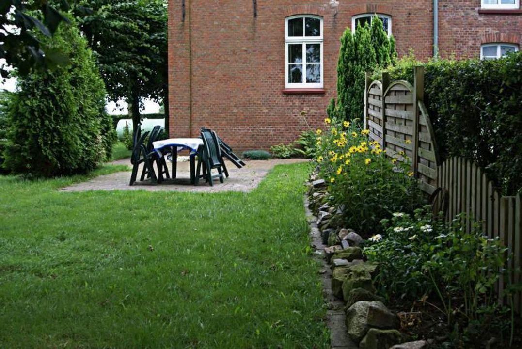Terrasse Am Steinbeet Ferienwohnung Klein Sande Hinte