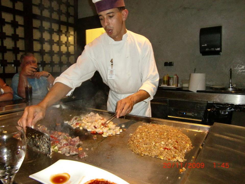 Showcooking im Japanischen Restaurant Majestic Elegance Punta Cana Resort