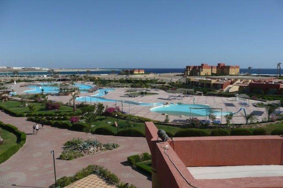 Poolanlage Malikia Resort Abu Dabbab