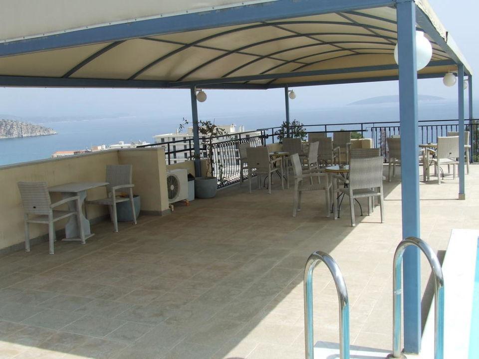 Sonnenschutz Auf Dachterrasse Hotel Maisonettes Alonia Tolo