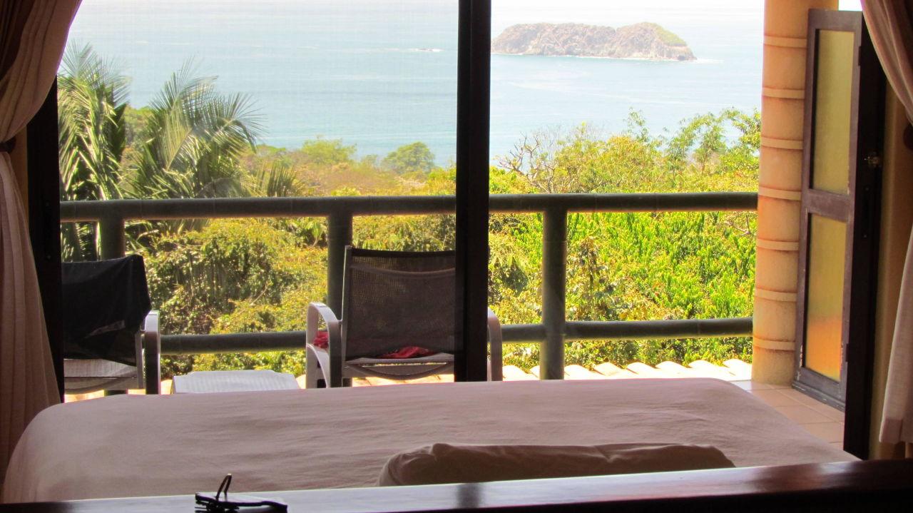 Blick vom Standard Zimmer Si Como No Resort & Wildlife Refuge