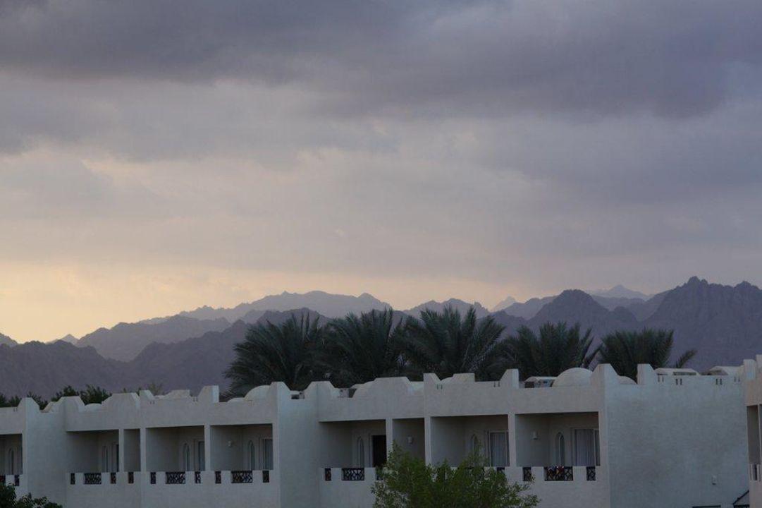Blick aus dem Hotel auf das Sinai-Gebirge Hotel Reef Oasis Beach Resort