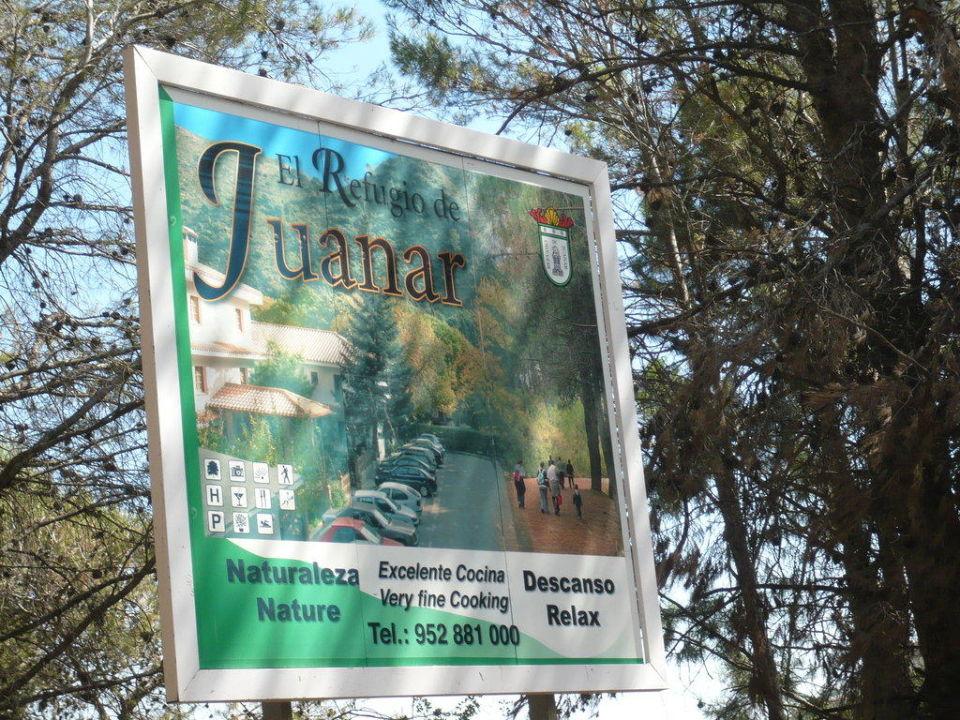 Eingangsschild Hotel Refugio De Juanar