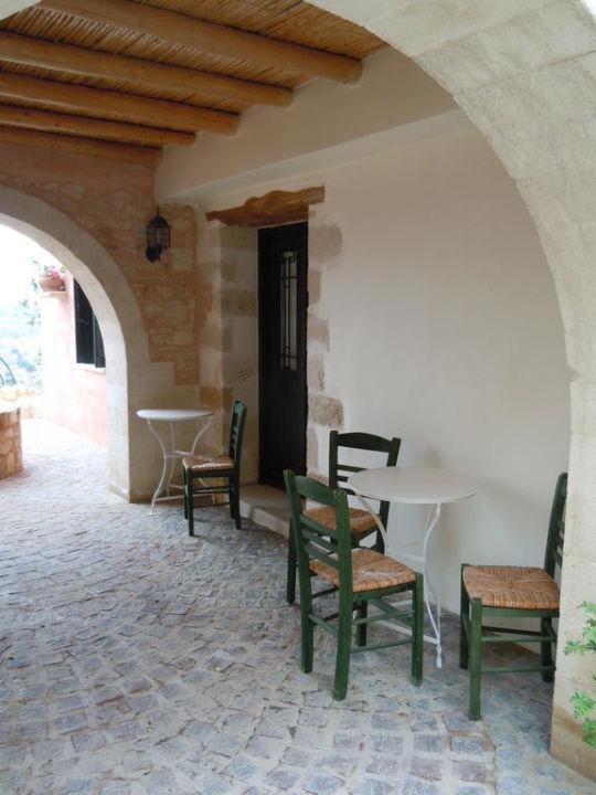 Sitting area Kastellos Village - Central Complex