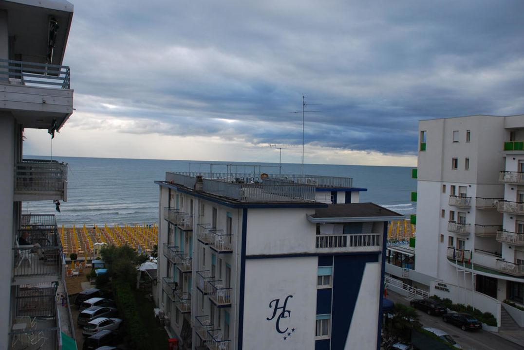 Aussicht vom Balkon Hotel Trevi
