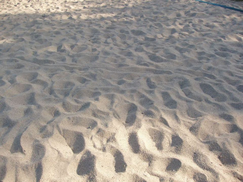 Weißer Strand Sand