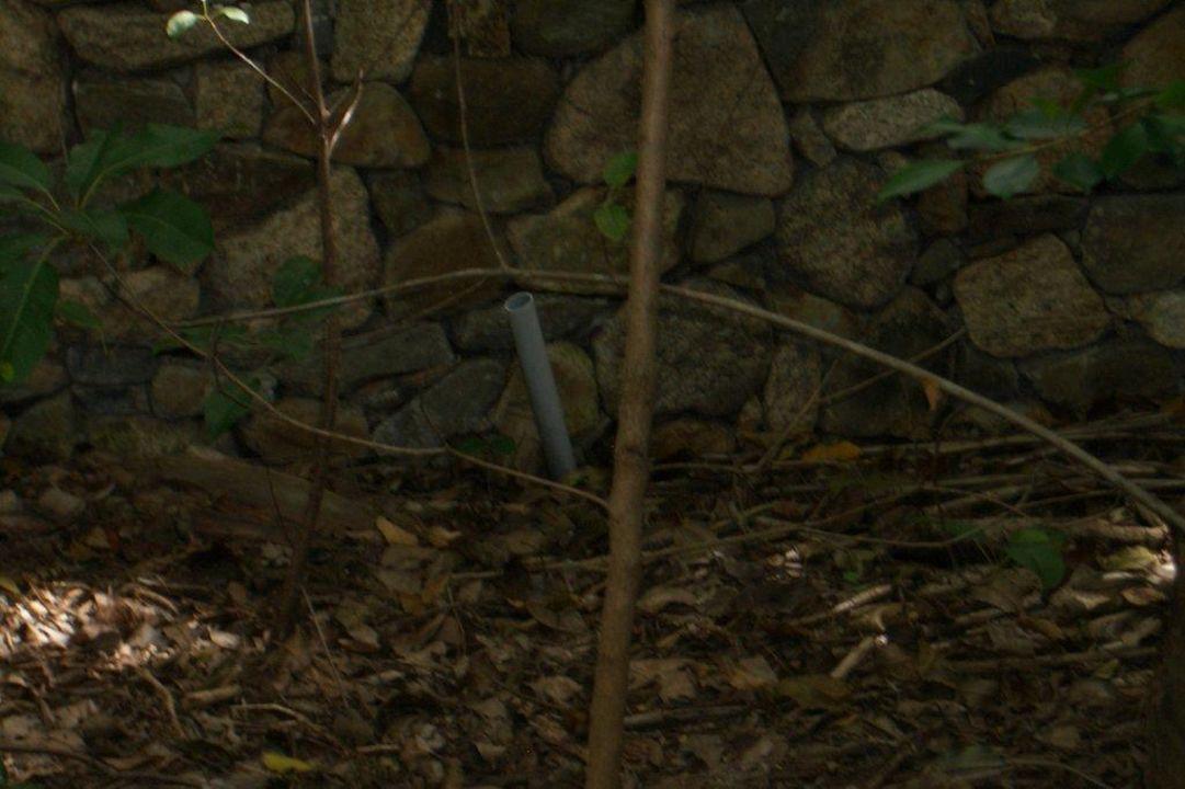 Undefinierbares Rohrstück im Garten Hotel Six Senses Ninh Van Bay