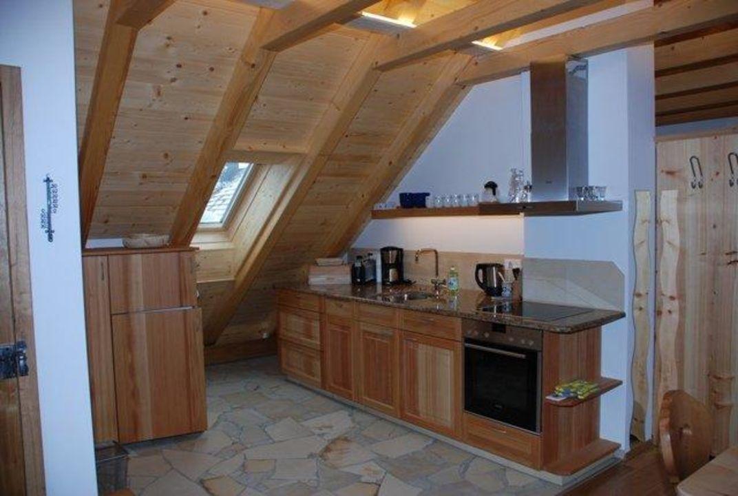 Küche in der Dachgeschosswohnung\