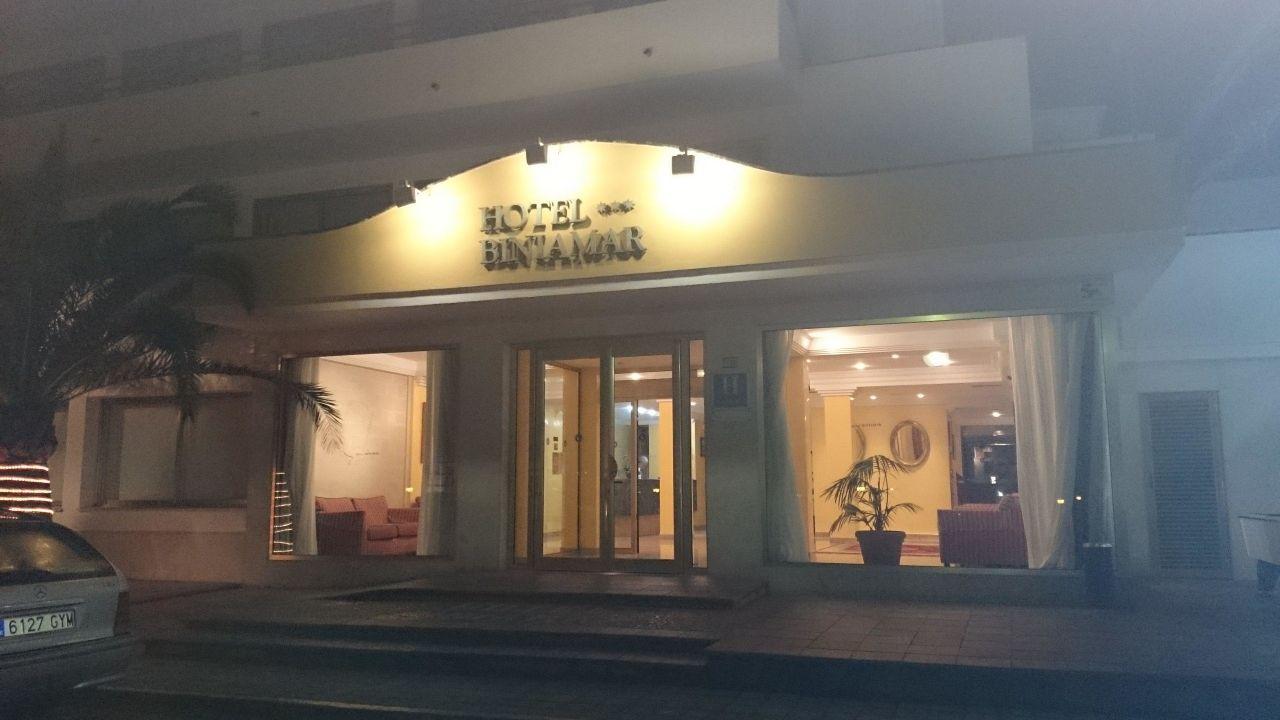Schöner Hoteleingang Hotel Biniamar
