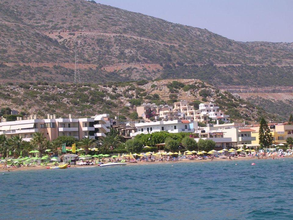 Meer mit Blick auf das Hotel Hotel Zephyros Beach