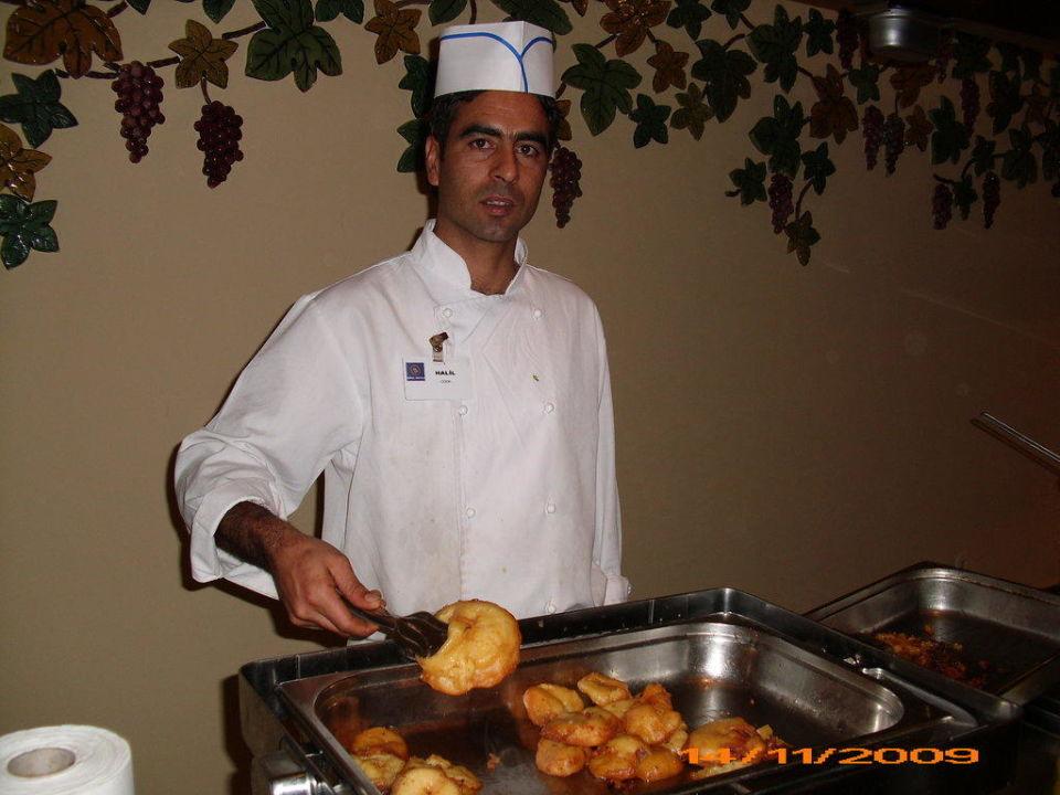 Gebackene Apfelkringel frisch zubereitet Hotel Süral Saray