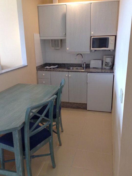 Die sehr kleine Küche vom Appartement\