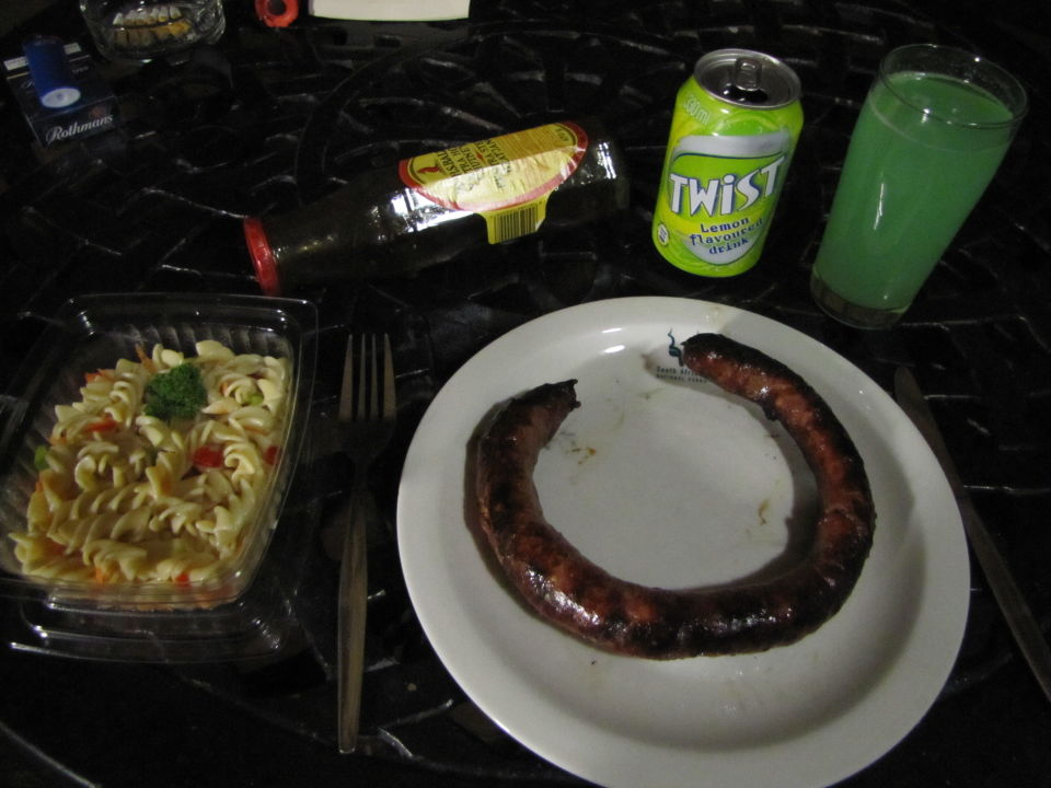 Selbst gegrilltes Abendessen Restcamp Lower Sabie