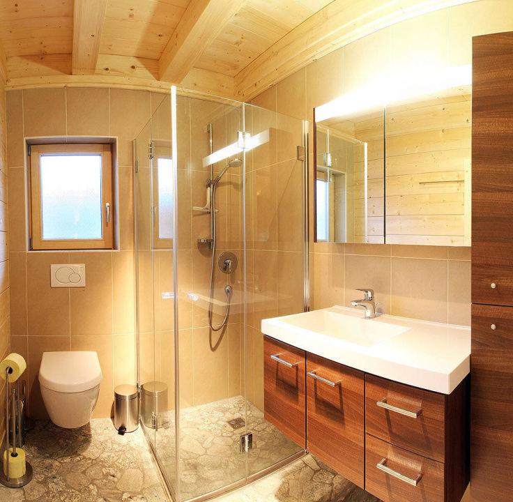 Badezimmer Hütte Reiterklause Hotel Reiterklause