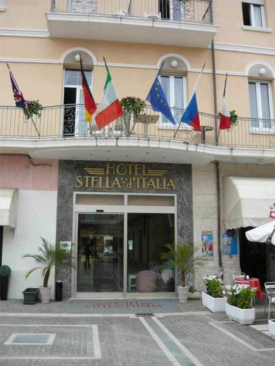 Hoteleingang Hotel Stella D' Italia