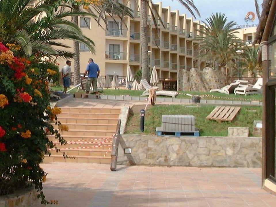 Bauarbeiten in der Anlage SBH Costa Calma Beach Resort