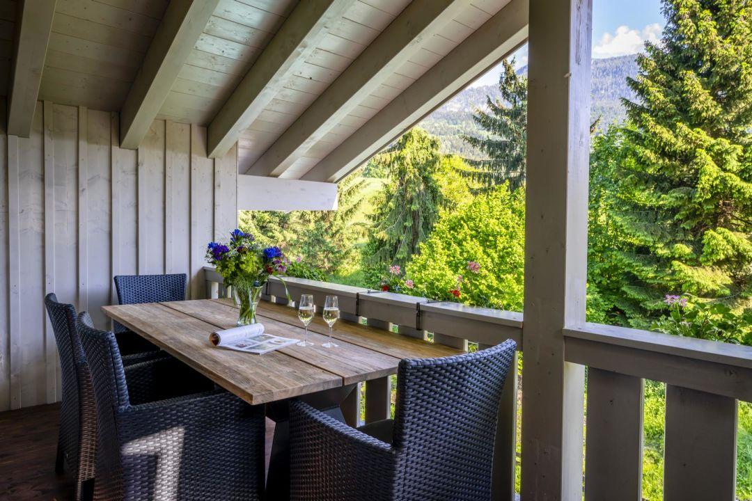 Gartenanlage Apartments Ferienparadies Alpenglühn