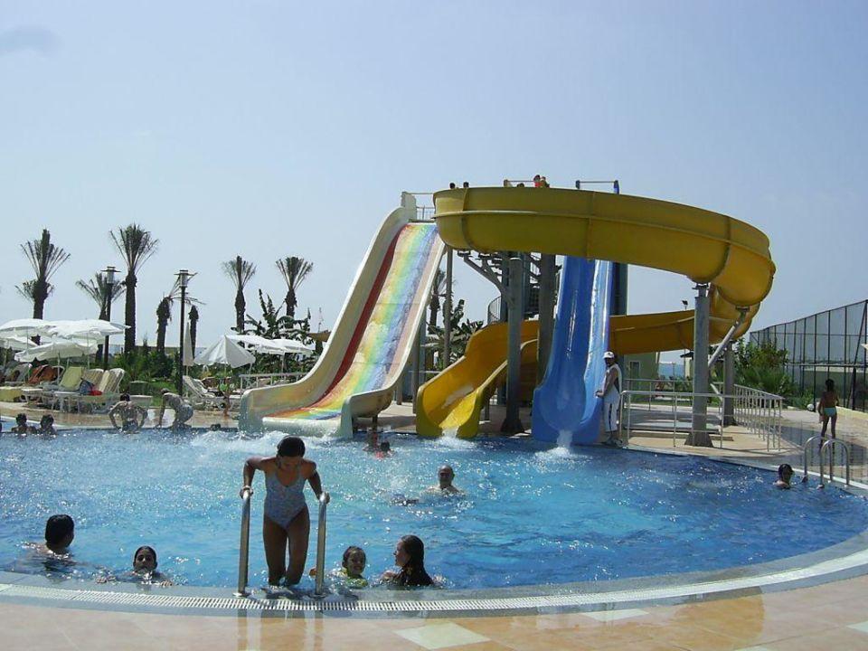 Rutschenanlage am Hauptpool Belek Beach Resort Hotel