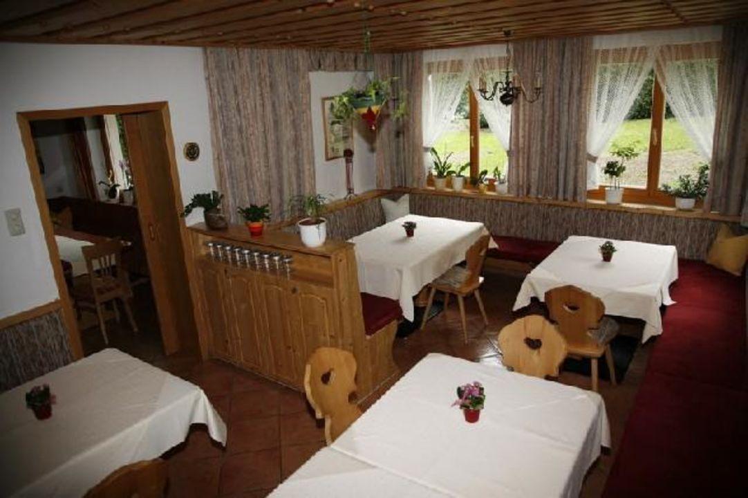 Frühstücksraum Pension Haus Isabella