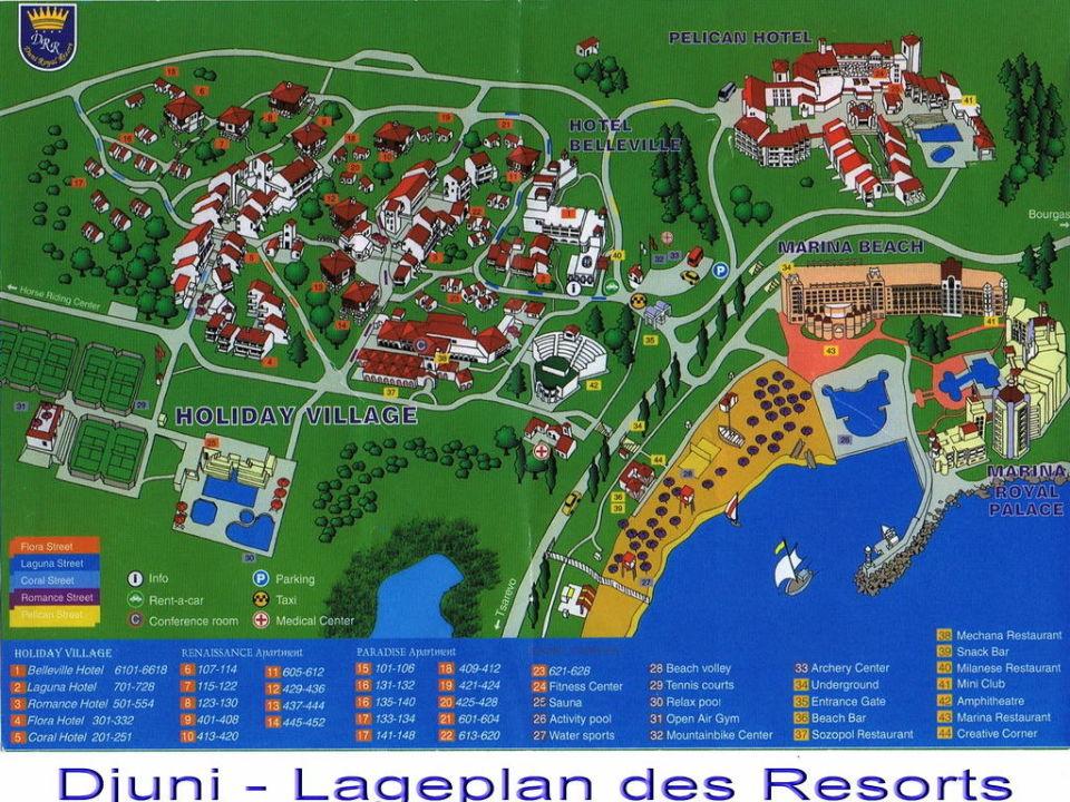 Lageplan Des Ressorts Hotel Duni Royal Marina Beach Sozopol