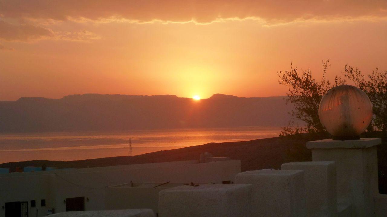 Sunset von Dachterrasse Red Sea Dive Center