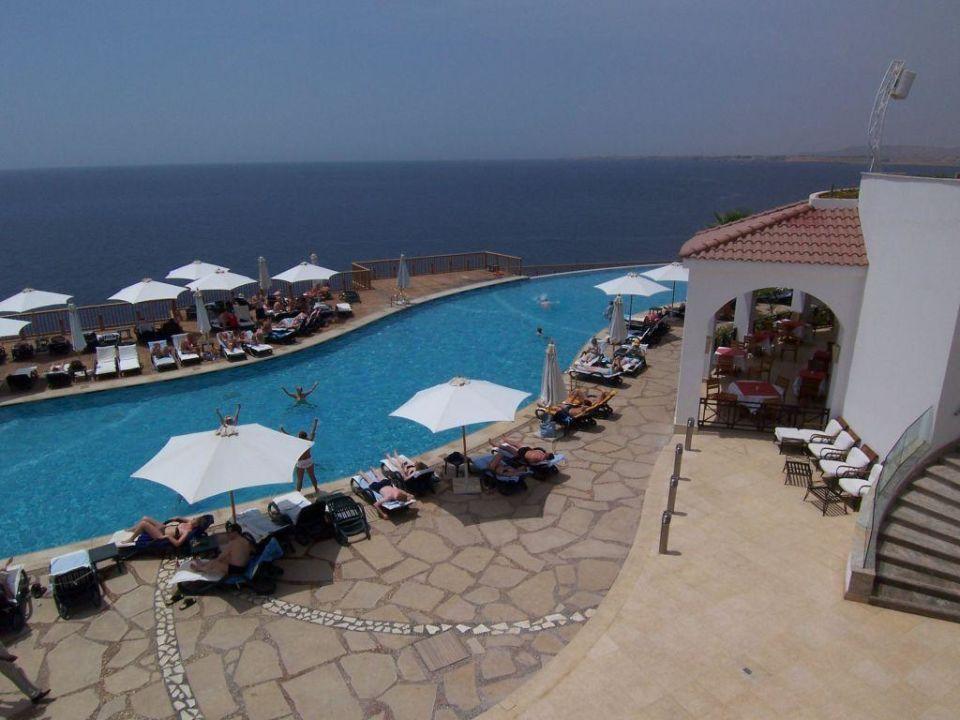 Pool mit Blick aufs Meer Reef Oasis Blue Bay Resort