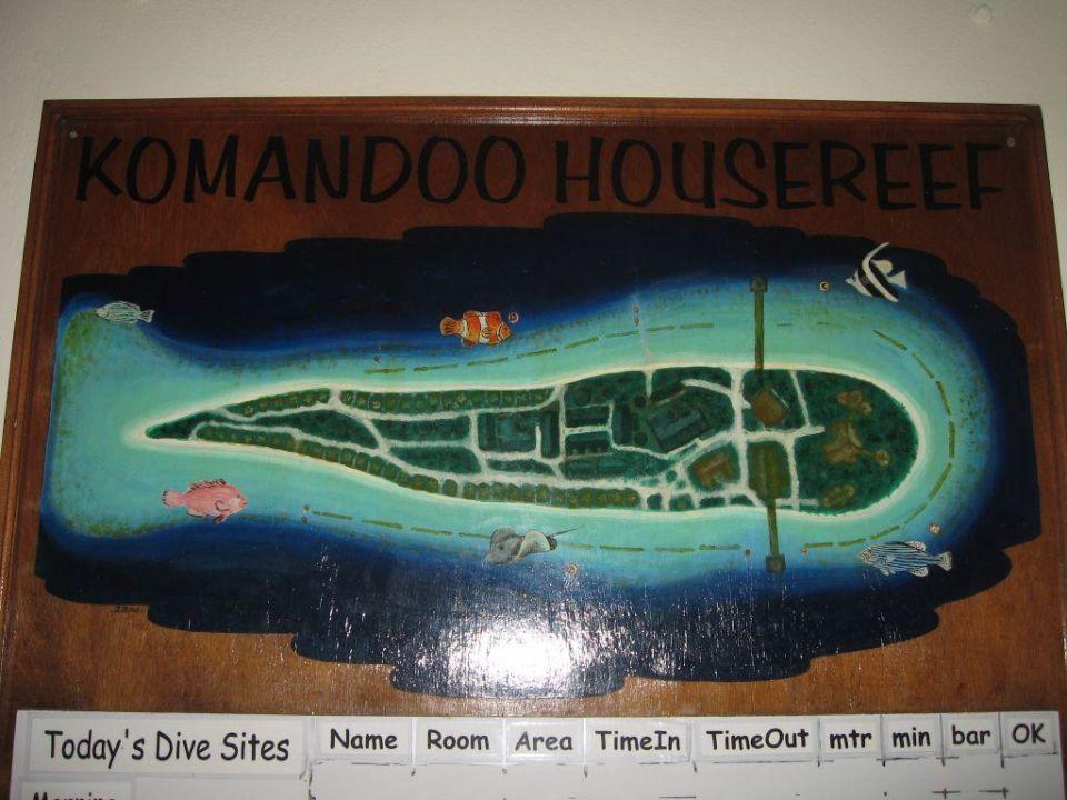 Inselkarte Komandoo Island Resort & Spa