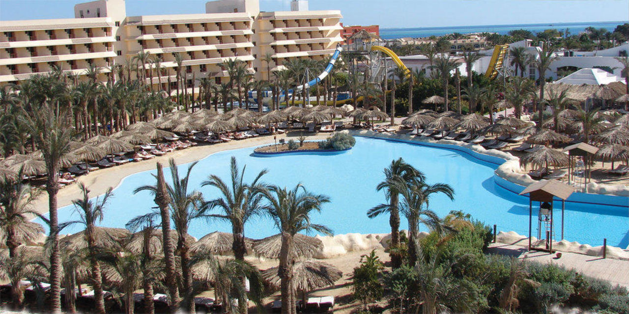 Blick auf Wellen becken und Sindbad Club Aqua Hote Sindbad Club Aquapark & Resort (Komplex)