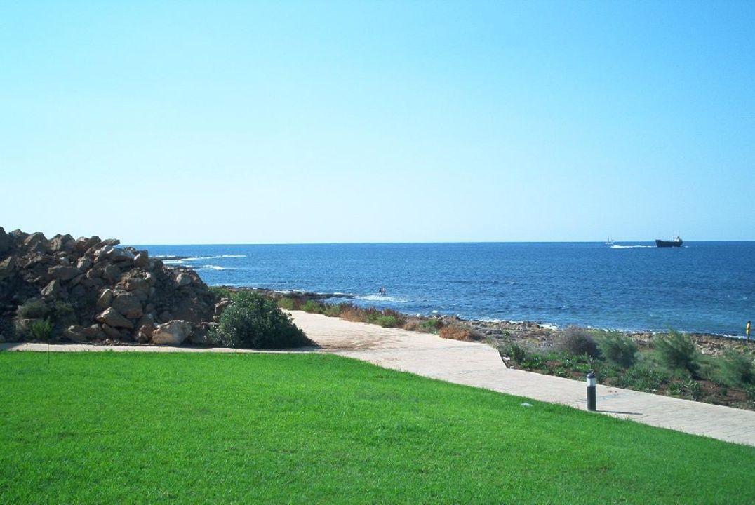 Im Garten mit Blick aufs Meer Hotel Pafian Park Holiday Village  (Vorgänger-Hotel – existiert nicht mehr)