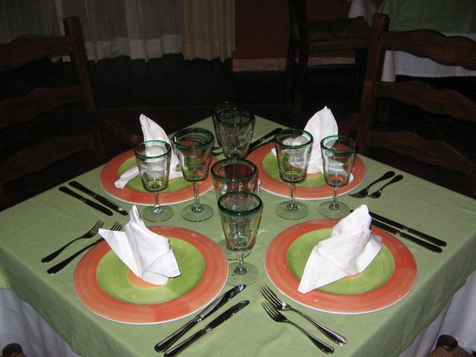 Schön gedeckter Tisch im Mexikanischen Restaurant\