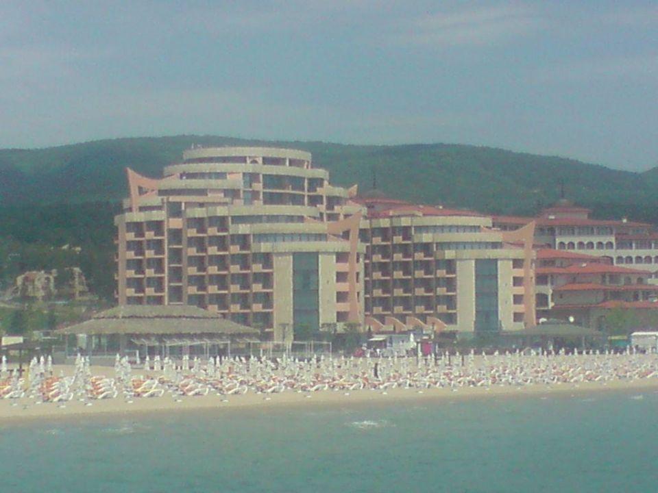 vom Meer aus aufgenommen Fiesta Beach & Fiesta M