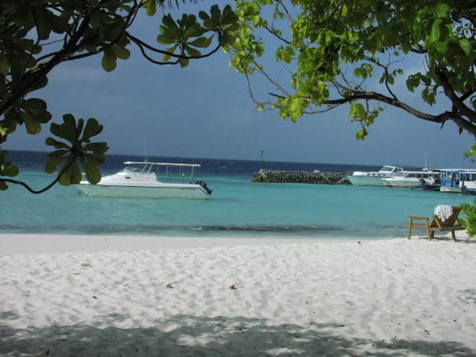 Blick auf dem Hafen / Lagune smartline Eriyadu