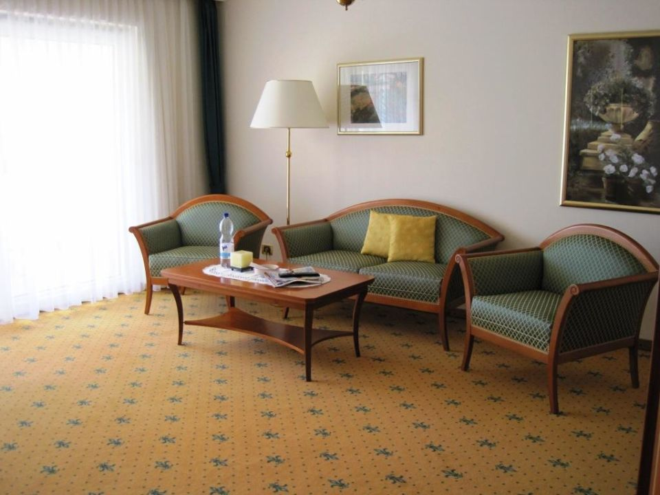 Wohnbereich der Luxus-Suite Hotel Ludwigshof  (Vorgänger-Hotel – existiert nicht mehr)