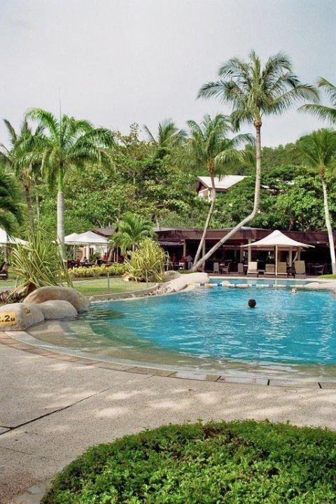 Poolanlage Hotel Shangri-La Rasa Ria Resort