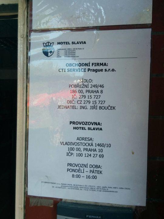 Das Hotel gehört zum City-Service Hotel Slavia