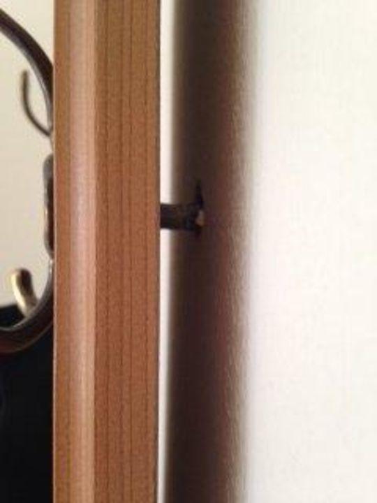 Garderobe ( Dübel hängt aus der Wand ) Gasthaus Zum Guten Hirten