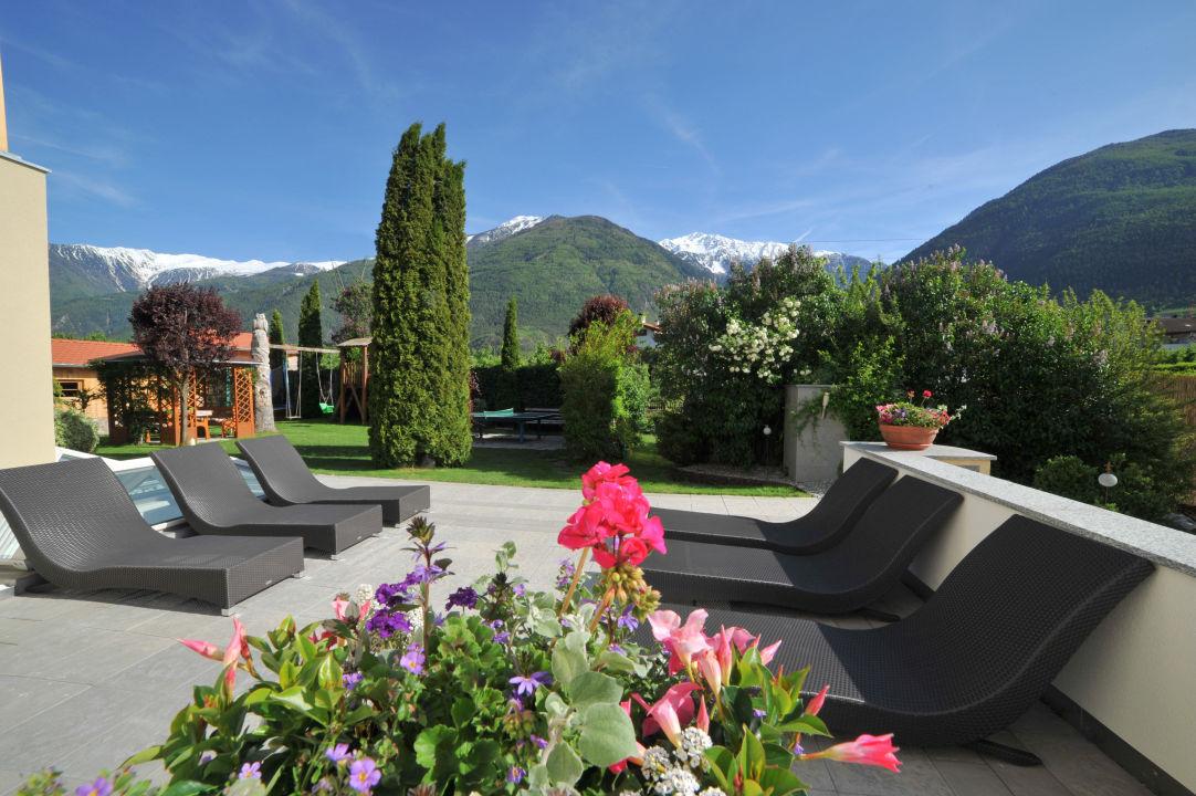Terrasse Residence Obermühle zu Schanzen
