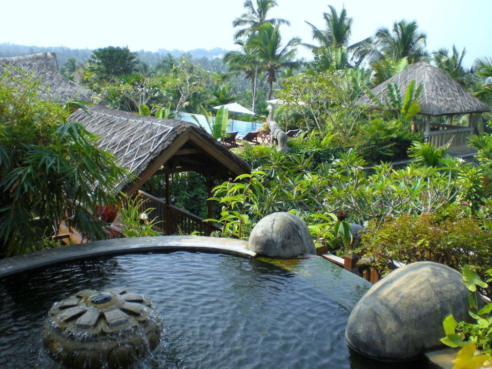 Blick auf Pool  Hotel Vivanta by Taj Kovalam