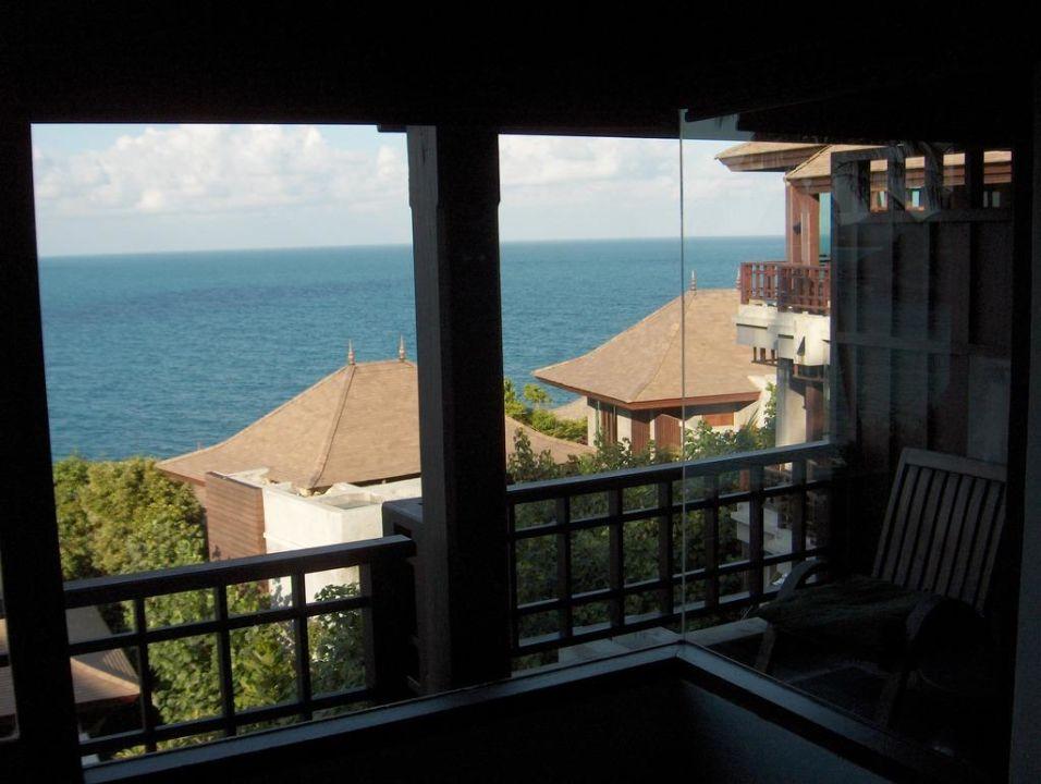 blick vom bett auf balkon the kala samui coral cove holidaycheck koh samui thailand. Black Bedroom Furniture Sets. Home Design Ideas