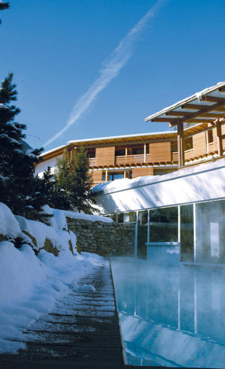 Aussenpool - Winter undSommer Designhotel Feldmilla