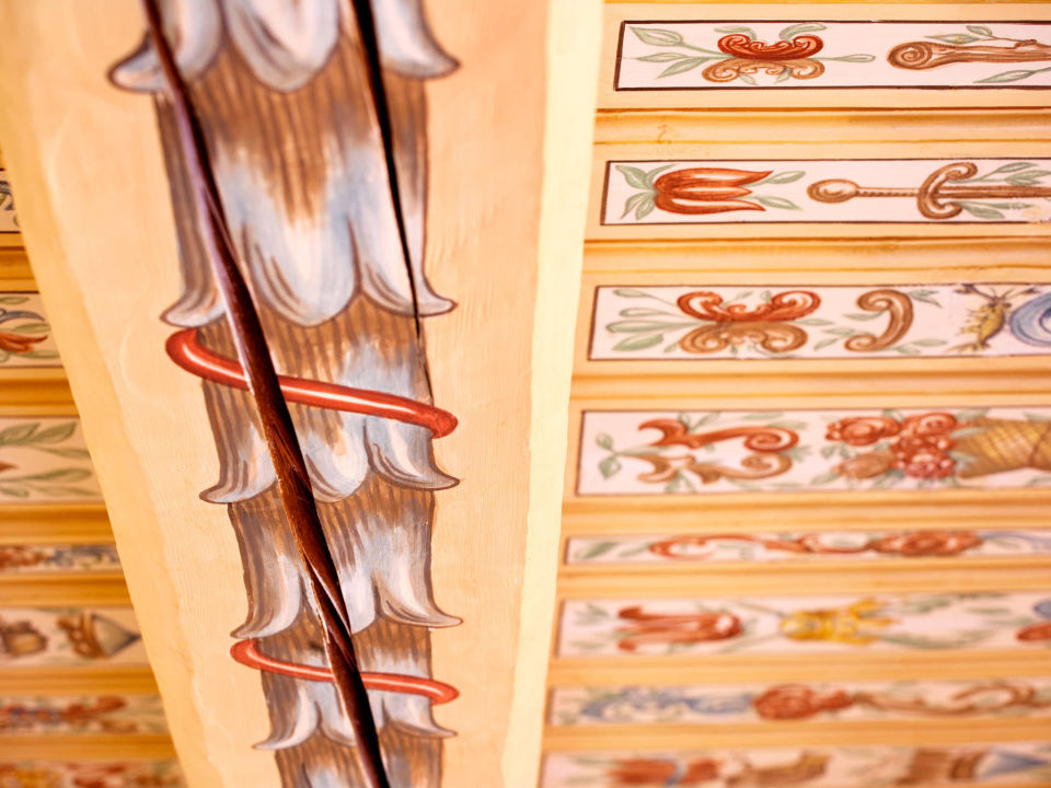Original hand painted ceiling Hotel U Zlateho Stromu
