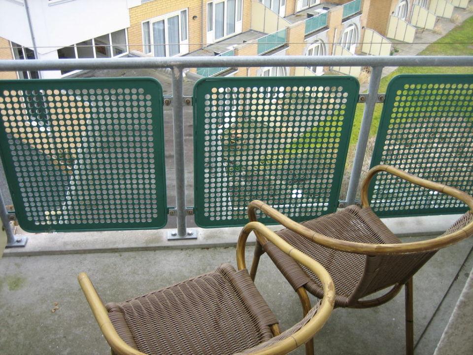 Blick vom Balkon Hotel Greenside
