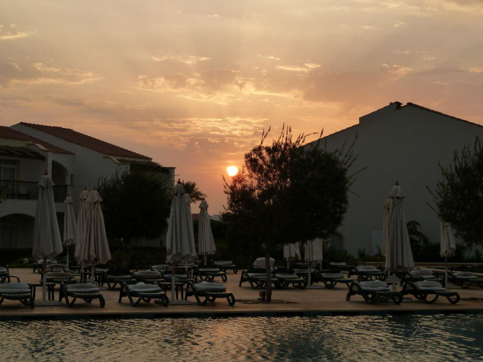 Sonnenaufgang am Relax Pool Hotel Reef Oasis Blue Bay