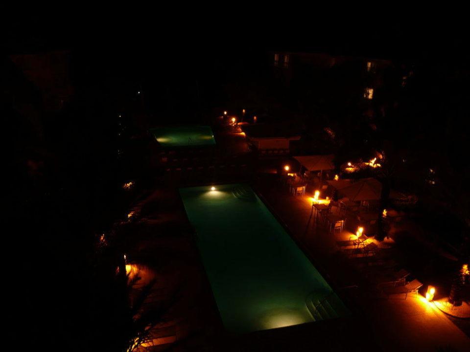 Blick vom Gulf Tower bei Nacht Hotel Edgewater Beach