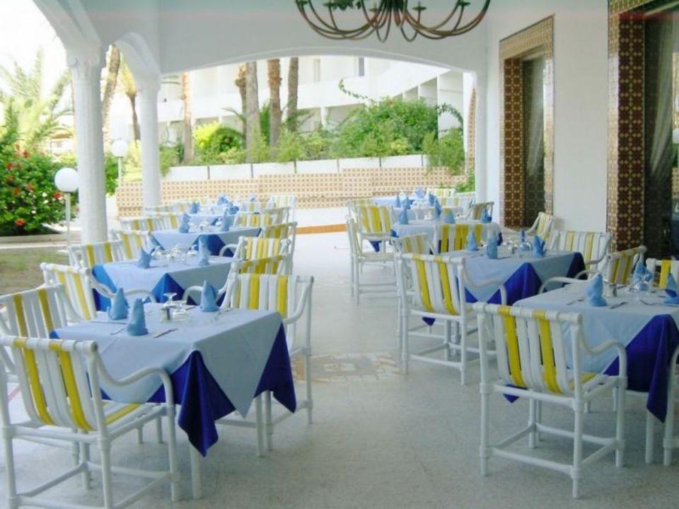 Hotel Skanes EL Hanna Tunesien Terrasse unten Hotel Skanes El Hana