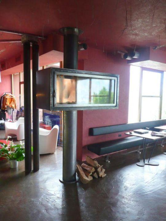 Kamin im Foyer Ambienthotel PrimaLuna