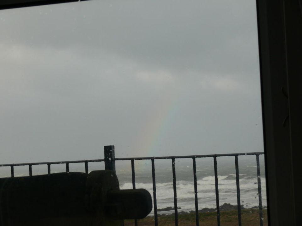 Vom Balkon aus gesehen Hotel Bay View Inn